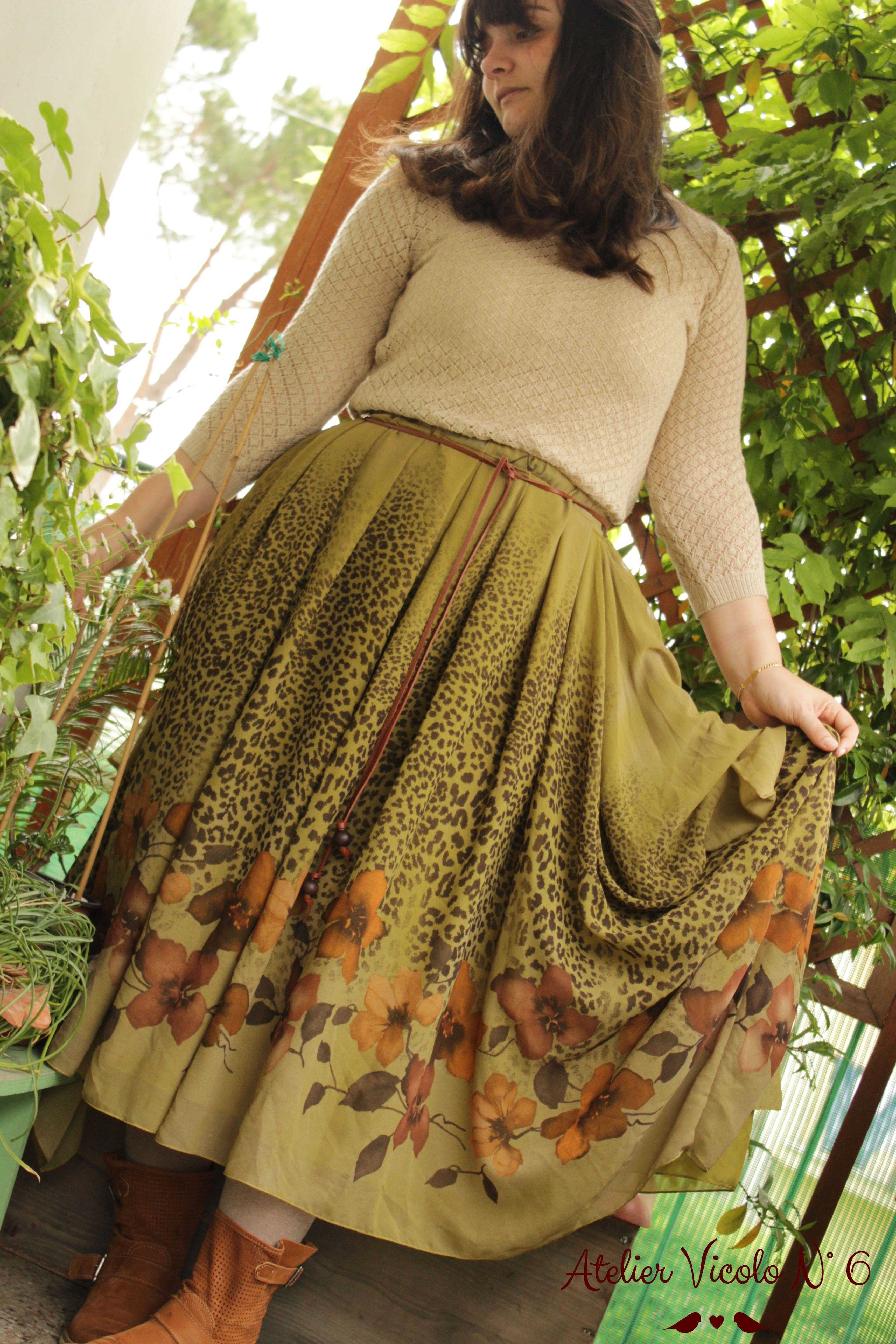 My second outfit for #mmday15 Chiffon Draped Skirt by Atelier Vicolo N° 6 !!!