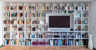 bibliotheque avec tv integree design