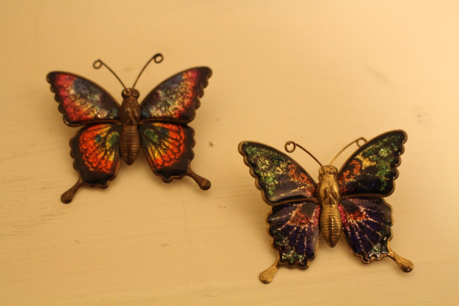 Vintage Metal Brass Butterfly Wall Hangings Small Medium and Large ...