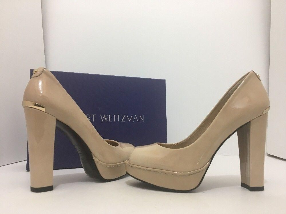 ec98ad4ee Stuart Weitzman Avastrong Women s Platform High Heel Nude Patent Leather -  Naked Aniline Pumps. Get the must-have pumps of this season!