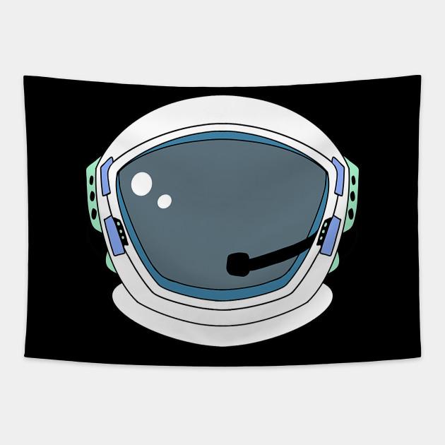 Astronaut Helmet Astronaut Tapestry Teepublic Space Spaceship Spaceman Astronaut Nasa Astronomy Universe Astronautenhelm