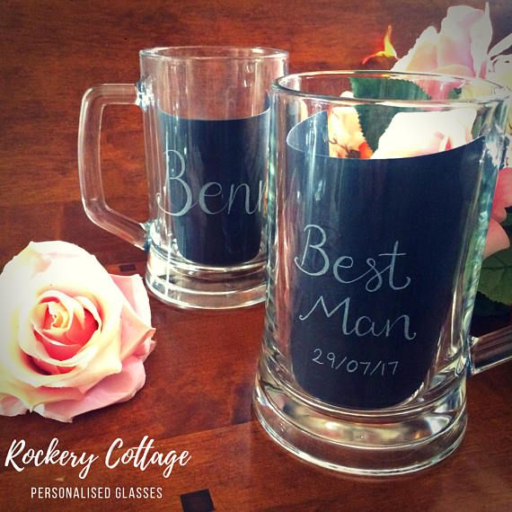 Celebrations & Occasions Premium Handmade Beer Mug Tankard 500ml Glass Best ManWedding Gift Home, Furniture & DIY
