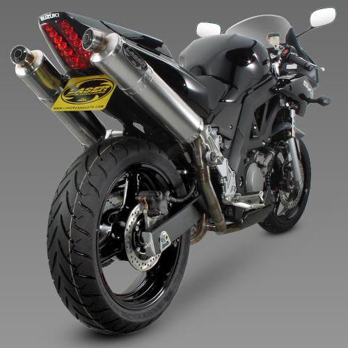 laser twin deeptone exhaust motorfietsen