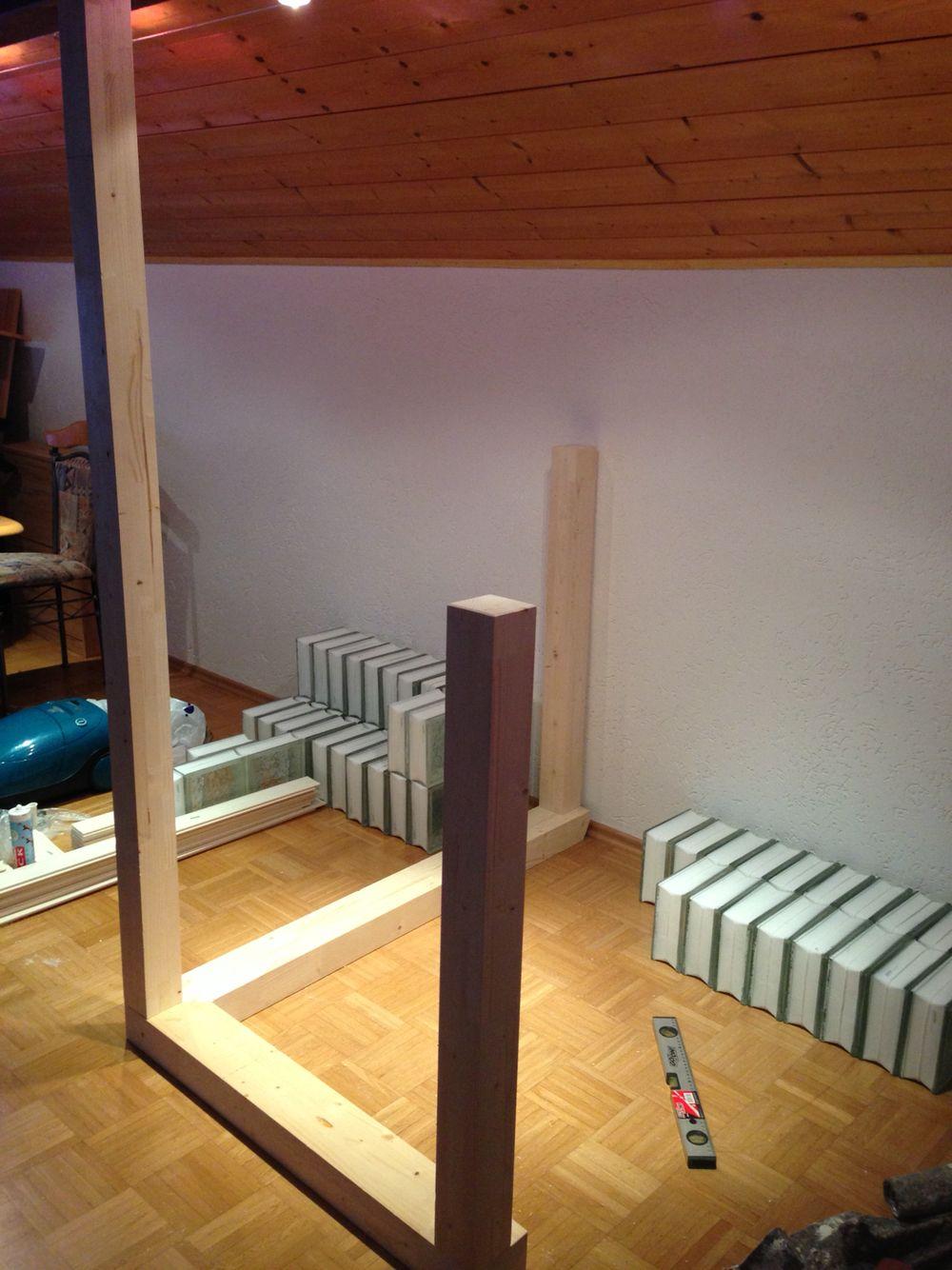 Bett selber bauen glasbausteine  Diy Bar mit Glasbausteine | Glasbausteine | Pinterest | Diy bar ...