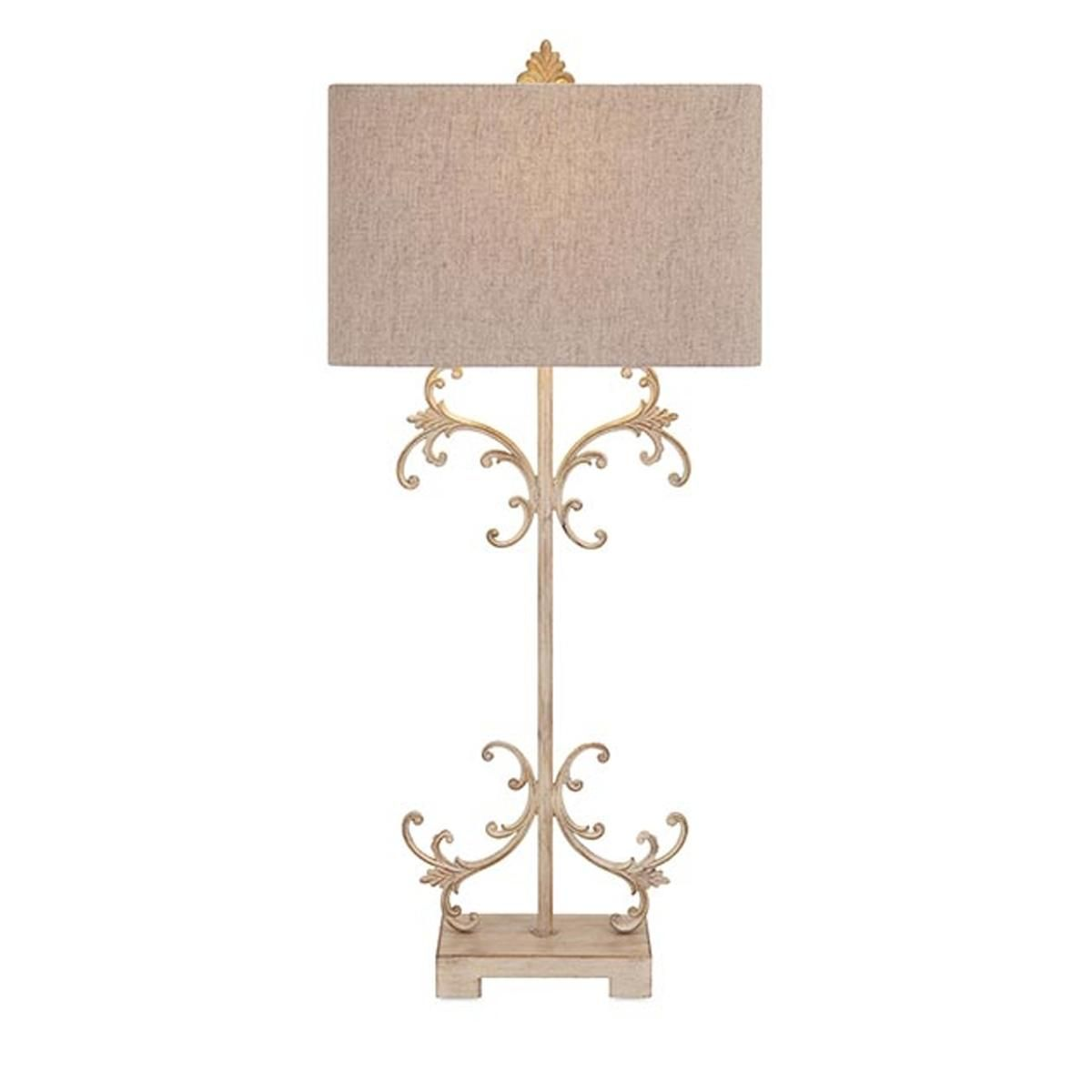 Scrolled French Country Table Lamp This Delicately Realized Table