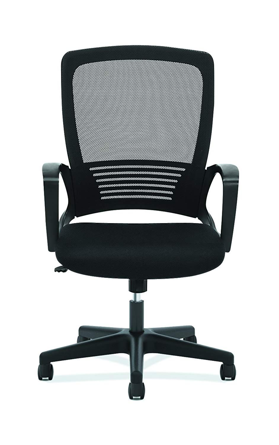 HON Mesh HighBack Task Chair, Stationary Loop Arms, in