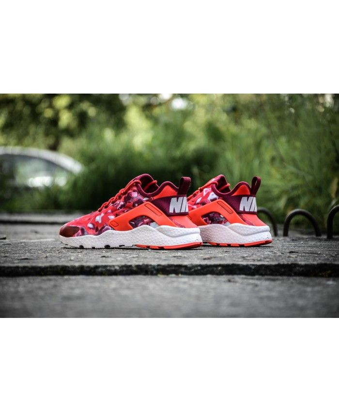 94a8e2f2dbc79 Nike Air Huarache Ultra Breathe Print Red Purple Camo Trainer Shoes is definitely  your favorite style