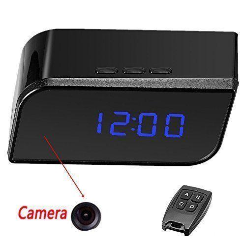 Full HD 1080P Hidden Spy Camera Alarm Clock DVR Motion Detection+IR