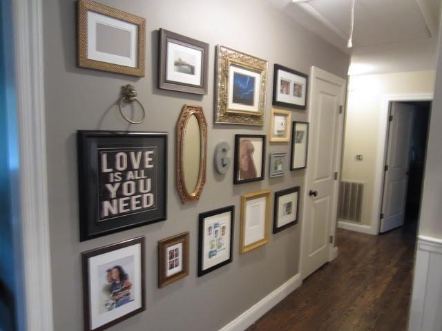 Home : DIY Hallway Gallery Wall - DONE