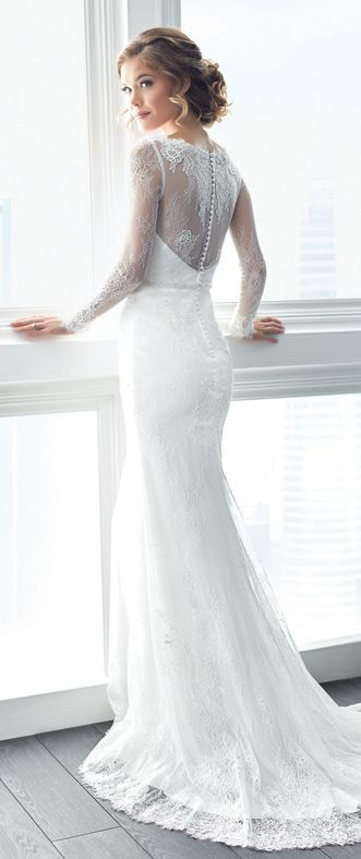 Long-sleeved lace Wedding Dress by Christina Wu Brides ...