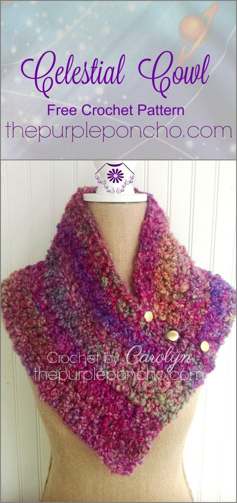 Celestial Cowl – Free Crochet Pattern | Scarfs | Pinterest | Tejido ...