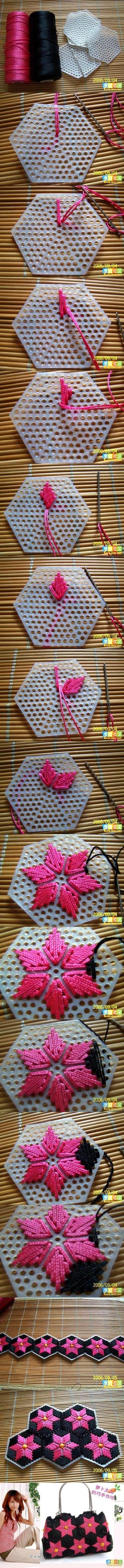 DIY Pretty Handbag from Stitch on Plastic Canvas | iCreativeIdeas.com Like Us on Facebook ==> https://www.facebook.com/icreativeideas