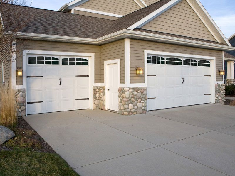 Garage door accents. Faux windows and quality hardware. & Garage door accents. Faux windows and quality hardware. | Stunning ...