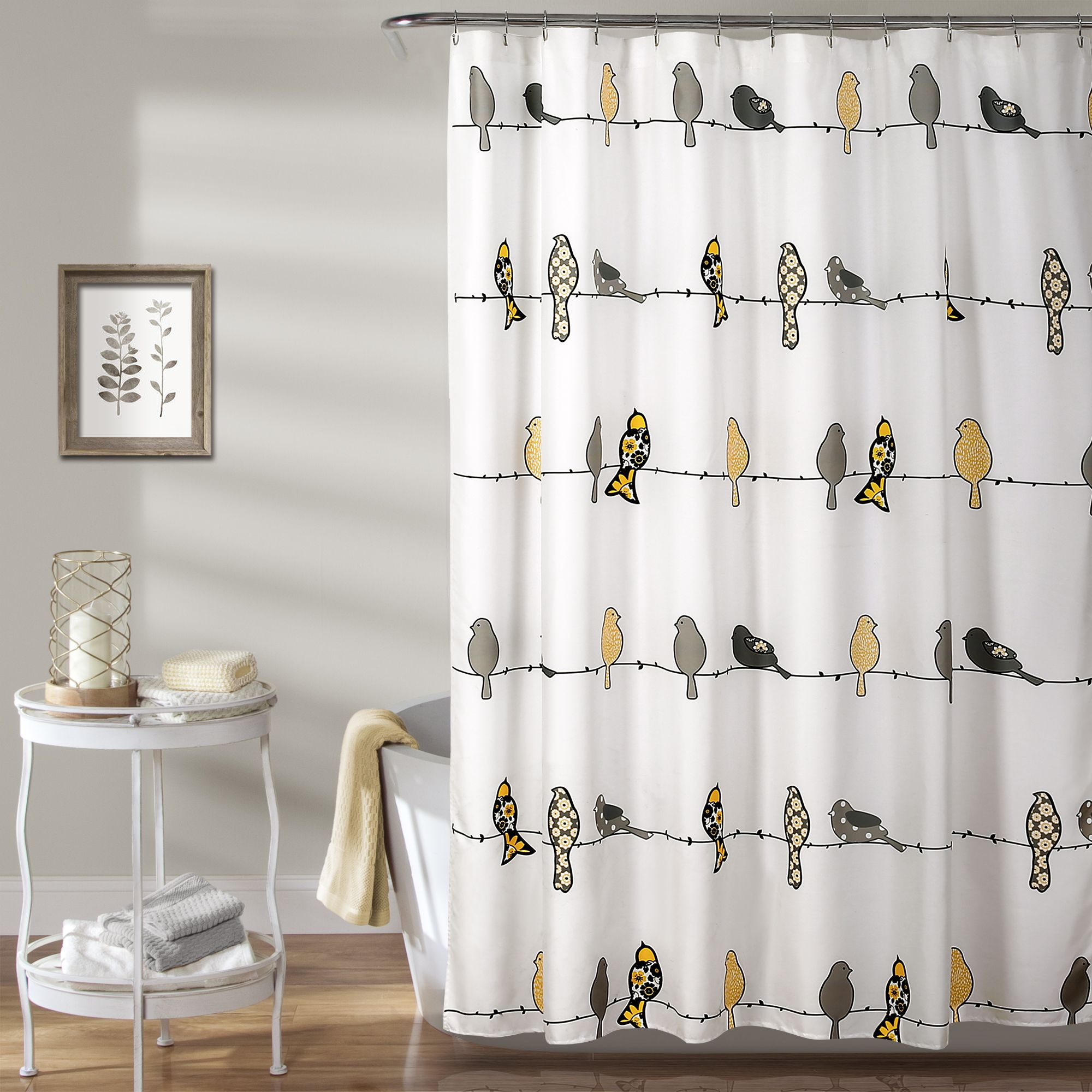 Rowley Birds Shower Curtain Bird Shower Curtain Curtains Guest