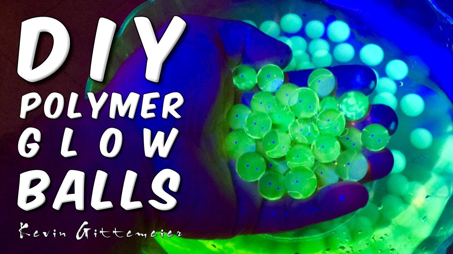 Amazing Invisible Uv Reactive Polymer Balls Diy Glow Cool Science Projects Crafts To Do