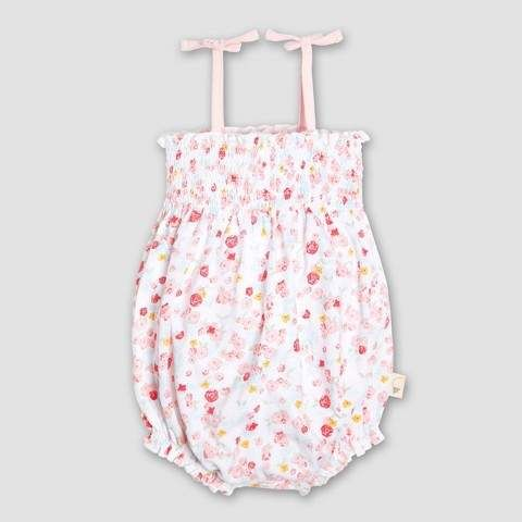 c75b434bfea9 Burt s Bees Baby Girls  Organic Cotton Ditsy Floral Bubble Romper ...