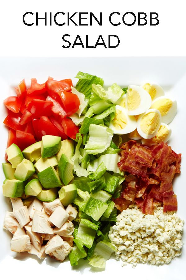 Looking for a meal-in-a-bowl? This Chicken Cobb Salad with Thousand Island Dressing is amazing! #BiteMeMore #recipes