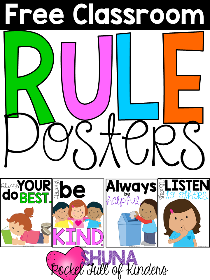 Printable preschool classroom rules with pictures