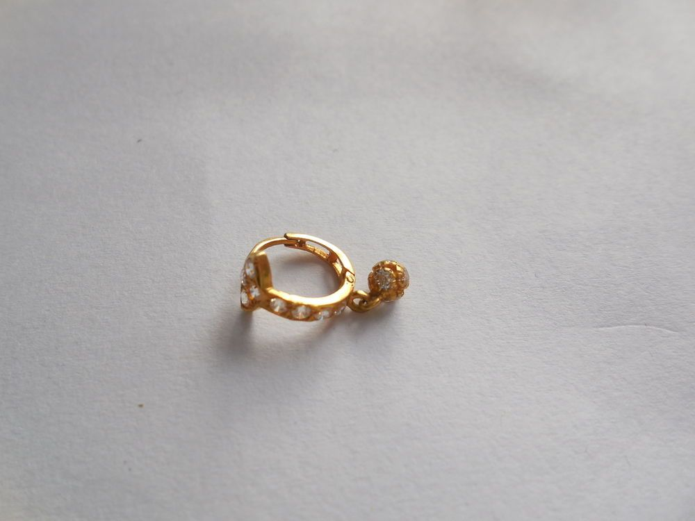 22k Solid Yellow Real Gold Nose Ring Nose Hoop Septum Ring Nose Stud