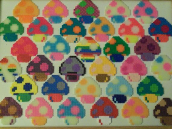 Mushrooms perler beads