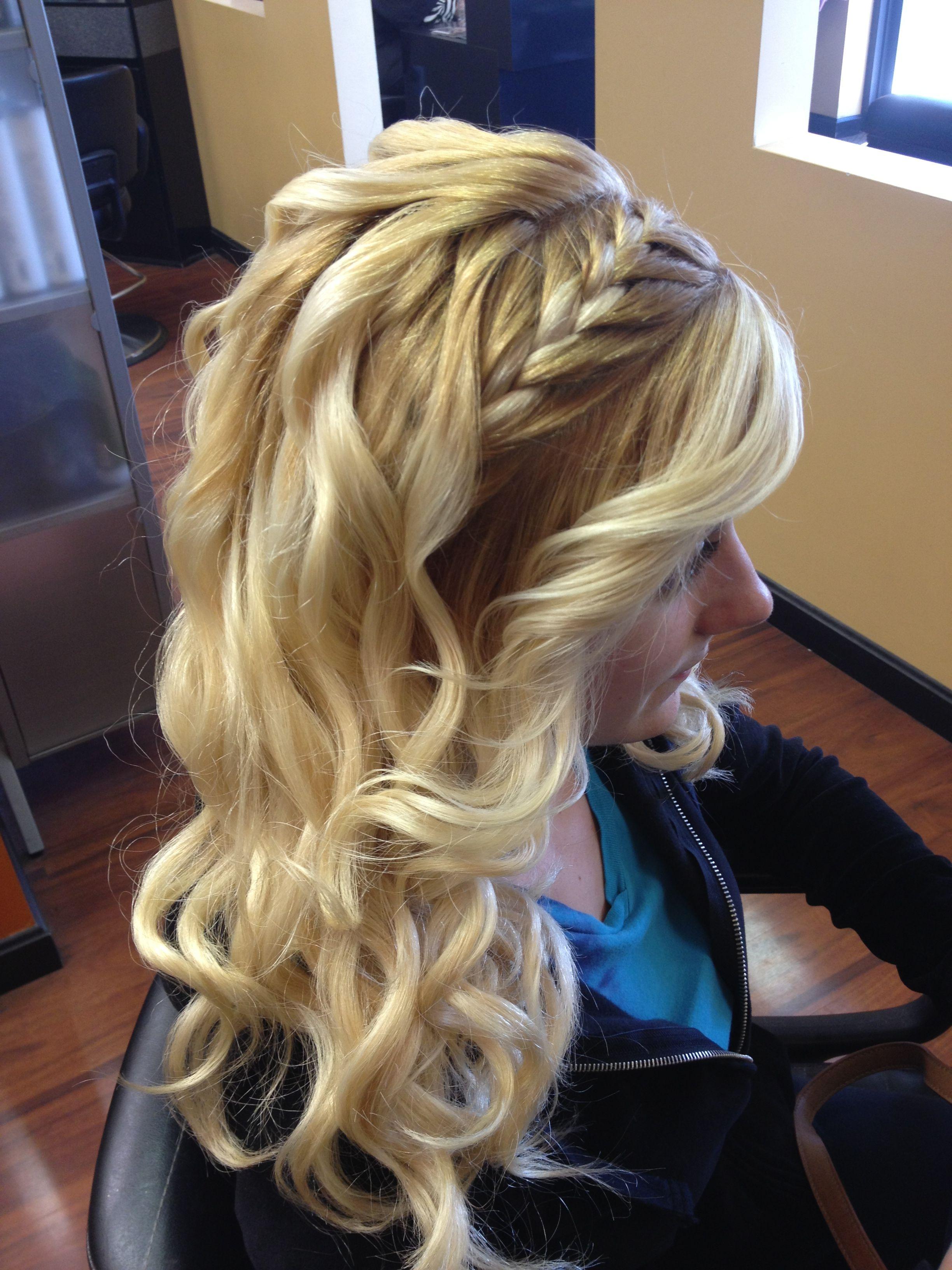 Braid curls hairstyles pinterest homecoming hair hair style