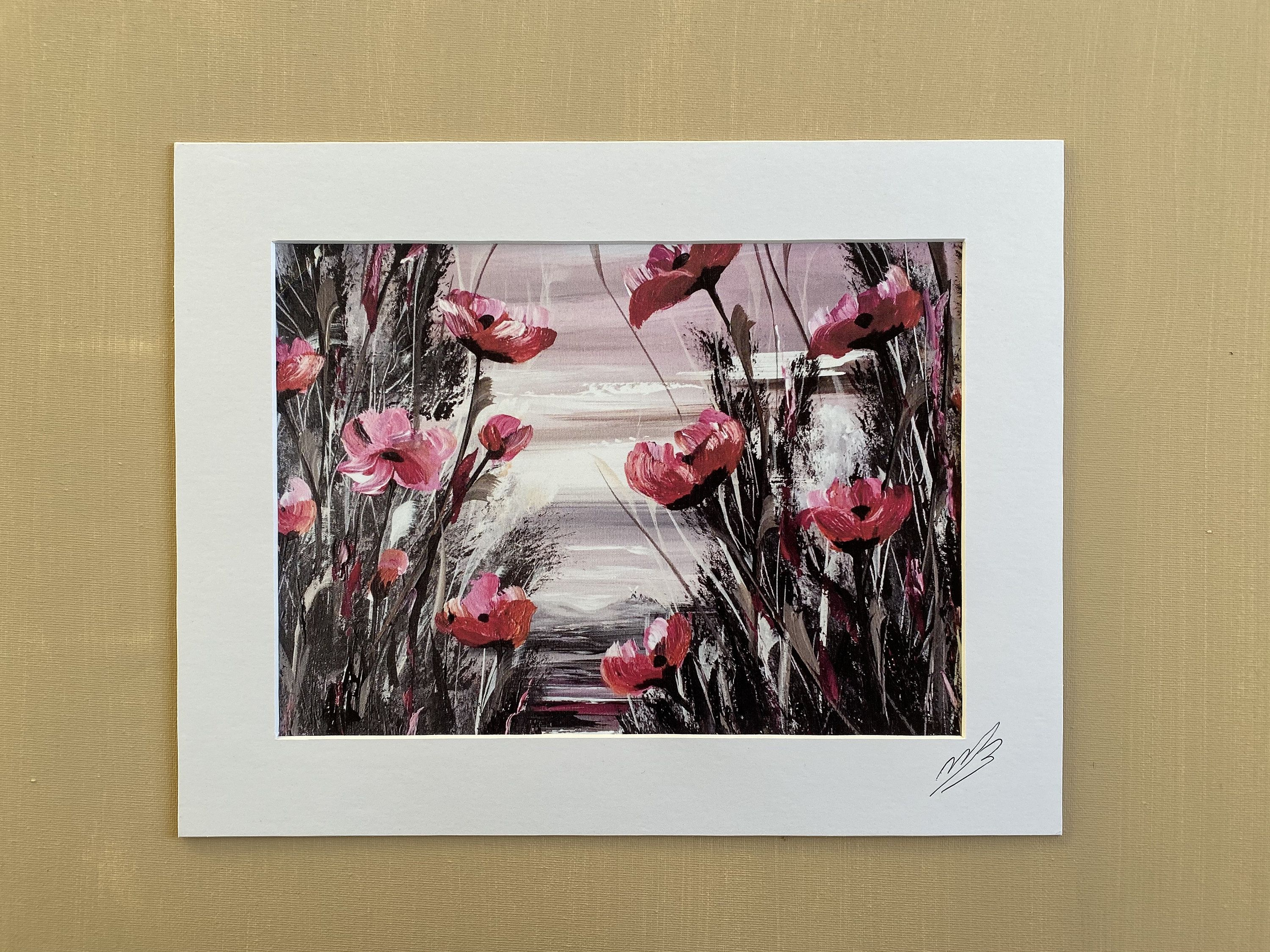 Magenta Poppies Print From Original Painting Poppy Etsy Poppy Painting Pink Flower Painting Original Paintings