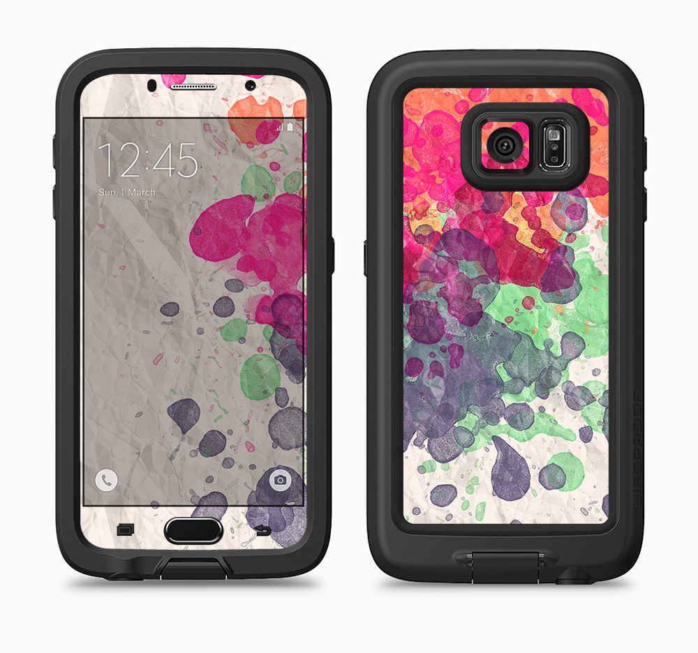The Vintage WaterColor Droplets Full Body Samsung Galaxy S6 LifeProof Fre Case Skin Kit