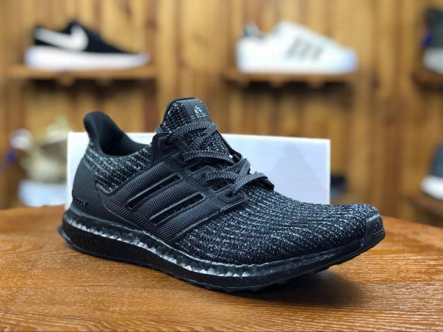 detailed look 05375 ec2f7 Adidas Ultra Boost 4. 0 Triple Black Bb6171 Mens Running Shoes
