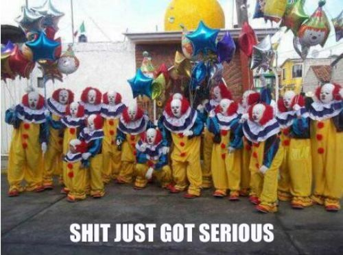 Who are those clowns?