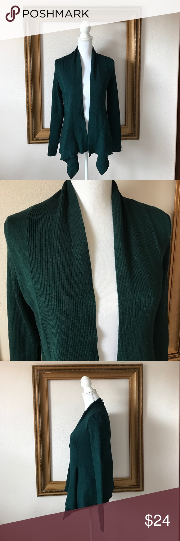 NWT 89th & Maddison forest green cardigan, 8 Super comfy, classic look. Wear to work with your pop of yellow, pink, or light bright floral for Spring! 89th & Madison Sweaters Cardigans