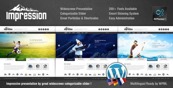 Impression Premium Corporate Presentation WP Theme | HTML5 Templates ...