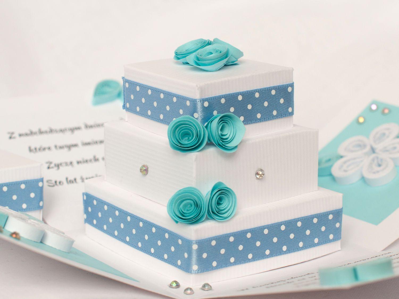 Paper Cake Inside The Exploding Box / Tort Z Papieru