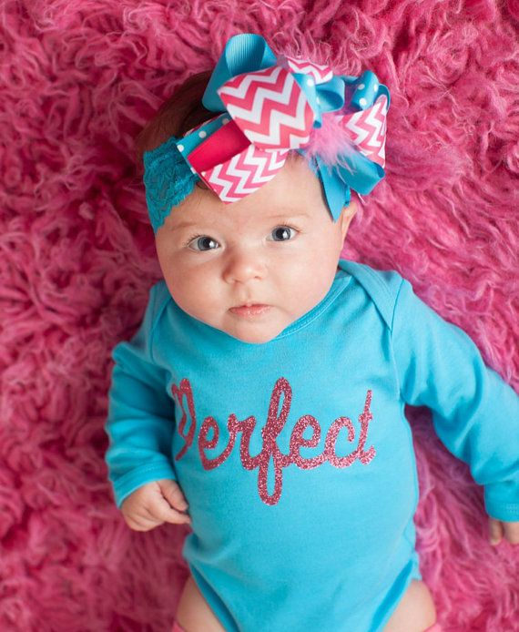 002577286 Perfect Pink Glitter Baby Girls Sparkle Clothes by CandyShopKids ...