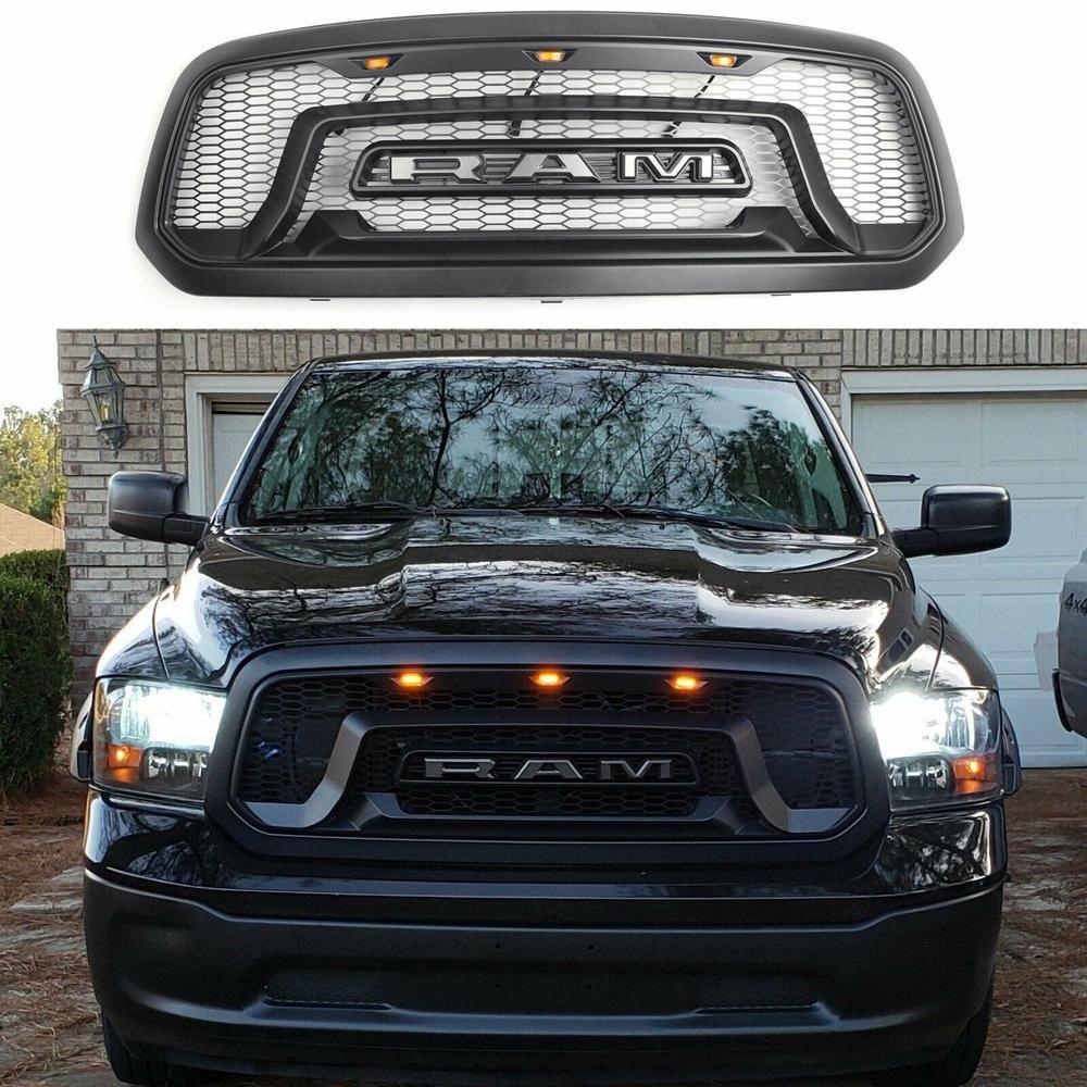 Grille W 3 Amber Led Lights For 13 18 Dodge Ram 1500 Truckoffroad In 2021 Dodge Ram 2001 Dodge Ram 1500 Dodge Ram 1500