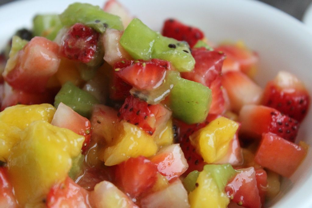 Fruit Salsa! #kiwi #mango #strawberry #sweet #dessert #snack #appetizer #color #summer #salad #healthy #health #food