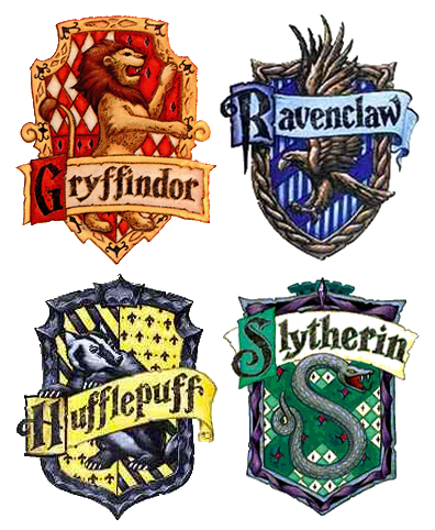 Hogwarts Houses   Gryffindor slytherin hufflepuff ravenclaw, House ...