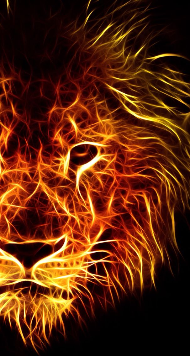 Fire loin Lion wallpaper, Jungle wallpaper, Lion art
