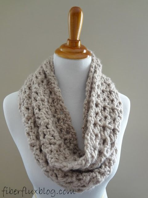 Free Crochet Pattern...Pavement Infinity Scarf! | Pavement, Free ...