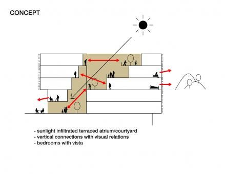 Daylight diagram precedent pinterest diagram for Architectural design problems