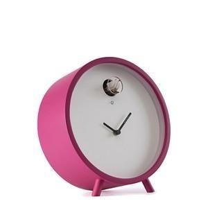 Diamantini And Domeniconi Plex Table Cuckoo Modern Clock For Sale Magenta Pink Clock Cuckoo Clock Led Clock