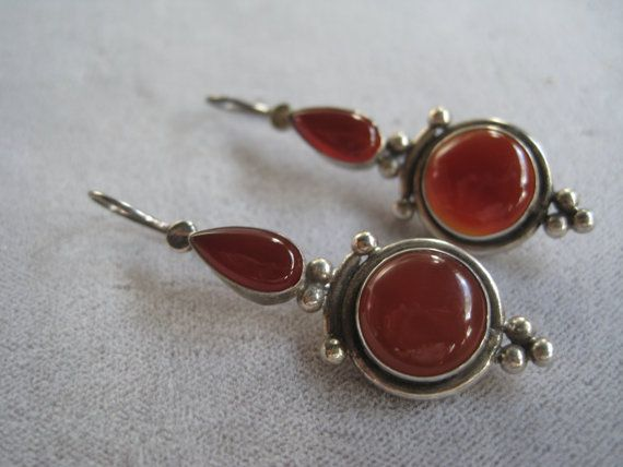 Vintage Sterling Silver Balinese Earrings with by BALIARTWORKS,