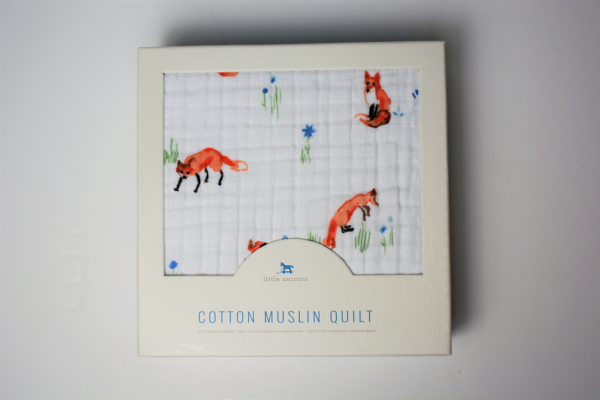 Little Unicorn Cotton Muslin Quilt - Fox #littleunicorn