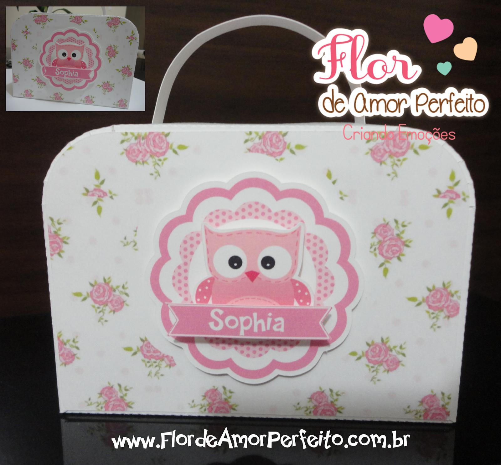 Flor de Amor Perfeito: PAP maletinha 3D para lembrancinha