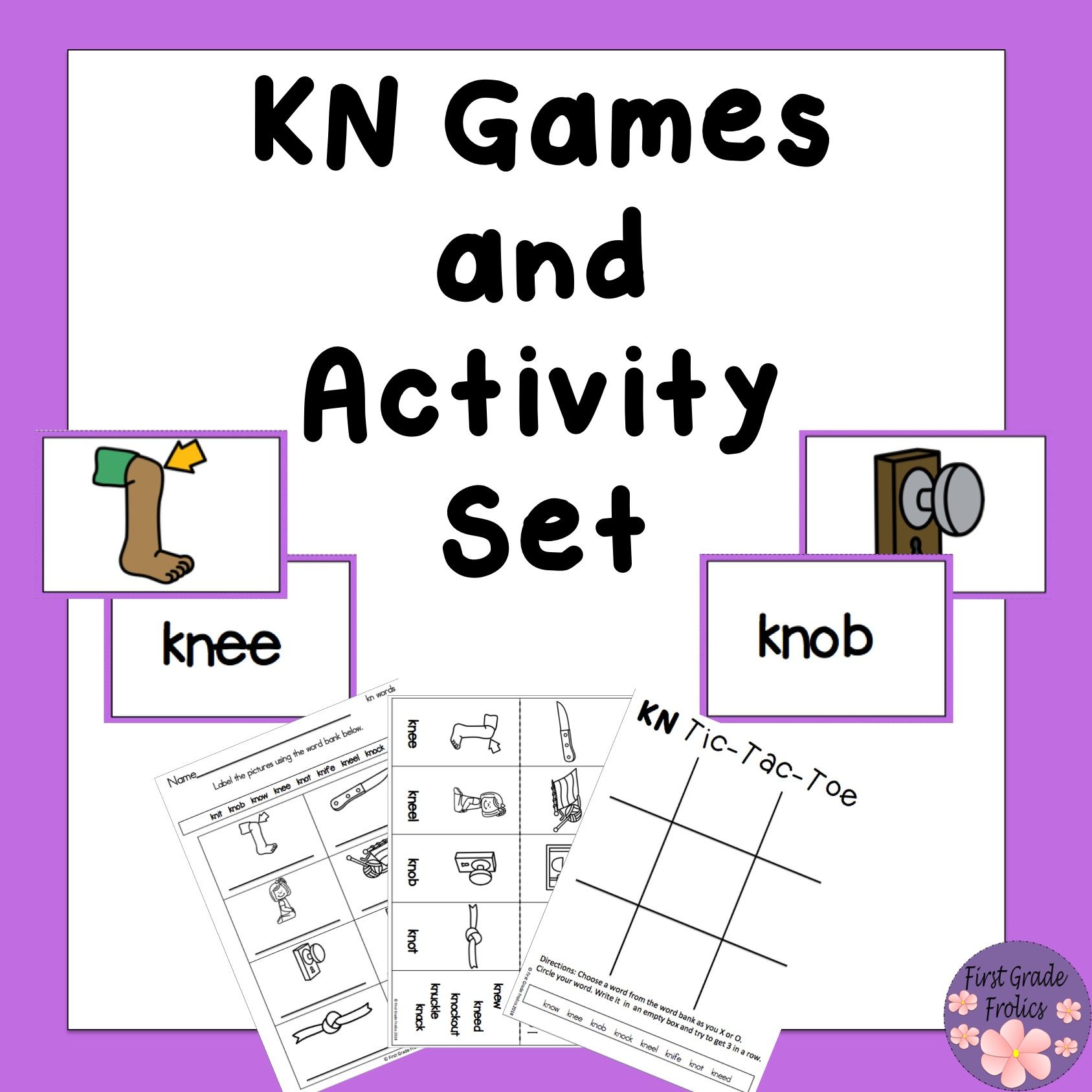KN Games and Activity Set from First Grade Frolics First