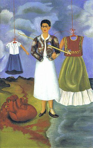 Frida Kahlo: Self-portrait; memory aka the heart,