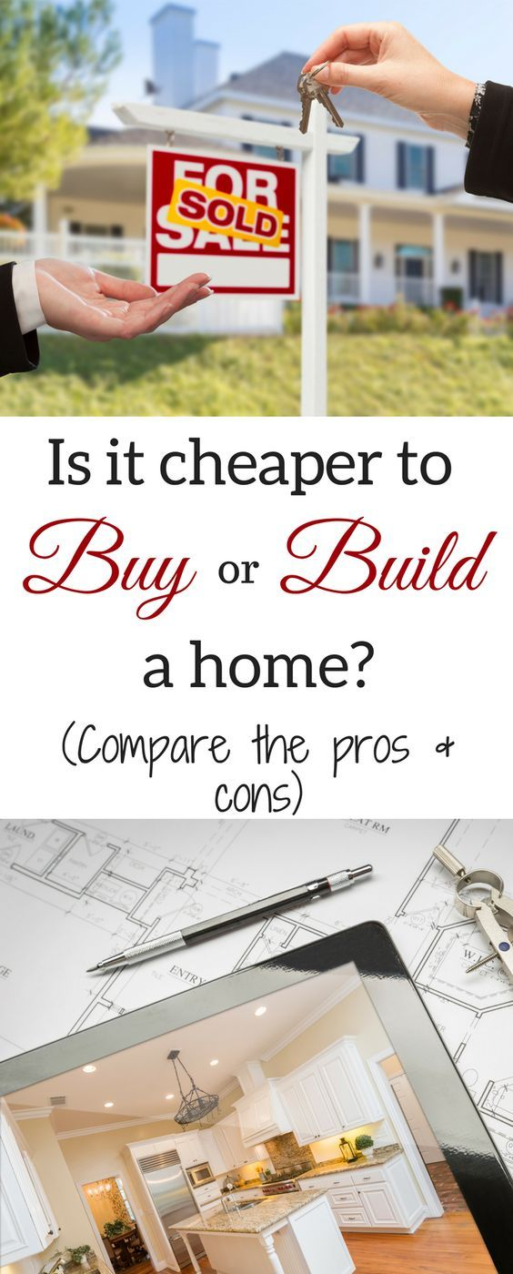 How Much Does It Cost To Build A House And Is It Cheaper To Buy Or Build Building A House Buying First Home Home Buying Process
