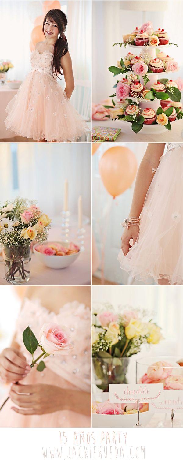 combinar la mantelera y decoracin con el vestido de la quinceaera es una tendencia