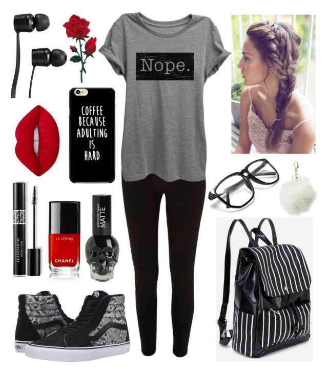 """Untitled #295"" by diamonds610 ❤ liked on Polyvore featuring River Island, Vans…"