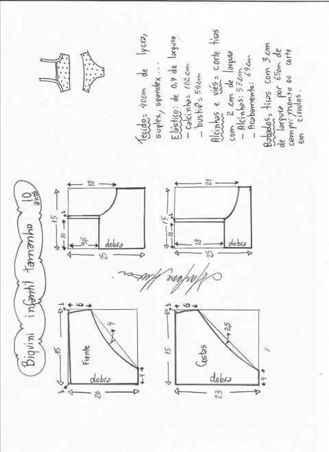 Esquema de modelagem de Biquini Retrô tipo Sunquini tamanho PP. 7fd9bbbf9e4