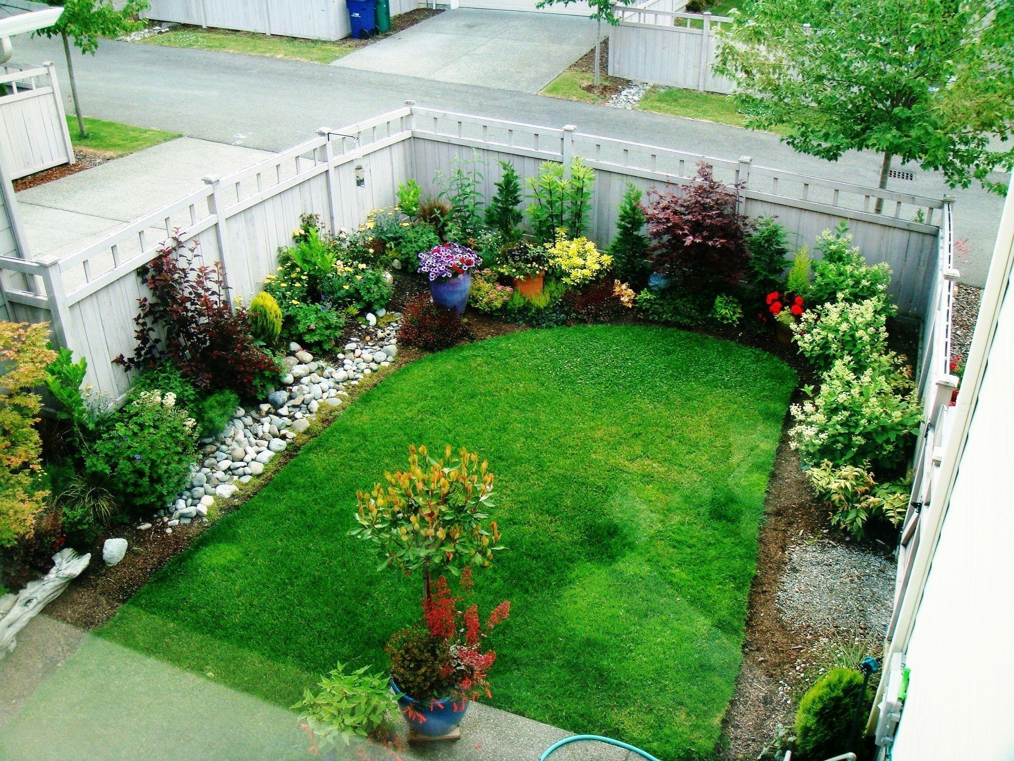 58 Beautiful Backyard Garden Ideas For Small Garden Kindofdecor Com Small Garden Landscape Small Yard Landscaping Front Garden Design